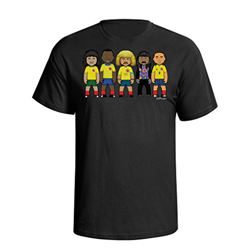 VIPwees Colombia football legends mens caricature t shirt