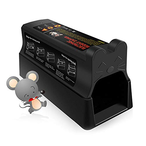 Pestai Electric Rodent Trap, Humane Mouse Zapper - 7000 Volts Electronic Rodent Zapper - Rat Chipmunks and Squirrel Catcher (Powered by AC or Battery, Safe and Non-Toxic), Use for Indoor and Outdoor - Zapper Electronic