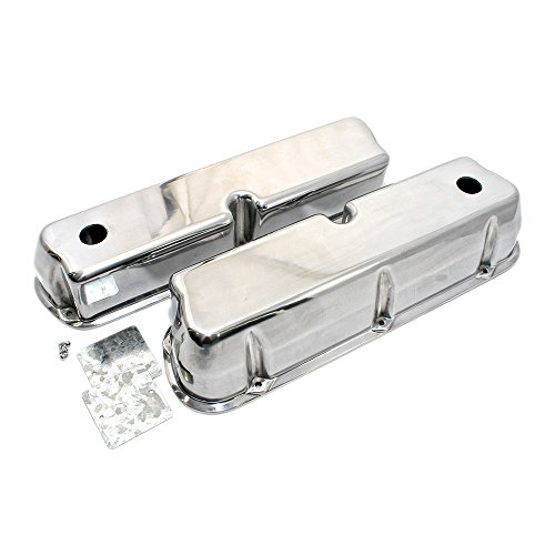 Assault Racing Products A6171 Small Block Ford Polished Aluminum Tall Valve Covers SBF 289 302 351W 5.0L