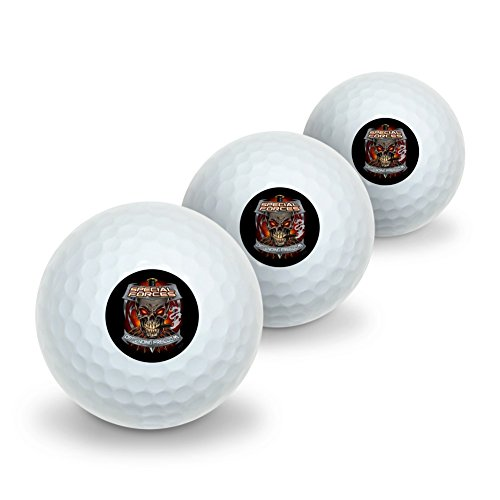 Graphics and More Special Forces Defending Freedom Skull Bullets Novelty Golf Balls 3 Pack by Graphics and More