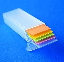 Karter Scientific 212F2 Plastic Microscope Slide Mailer, Holds 5, Dispenser box (Pack of 100)
