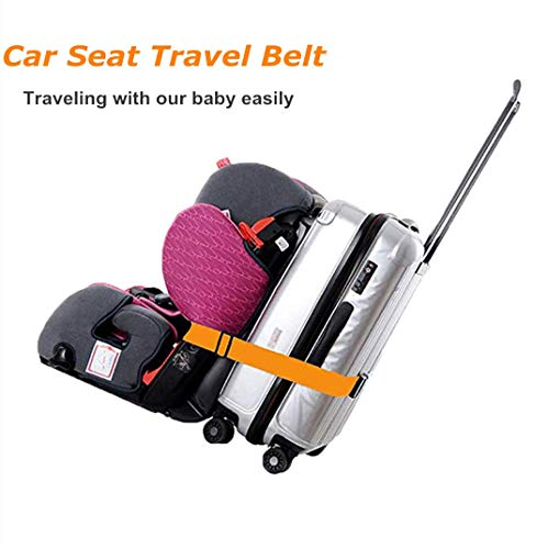 Kids Car Seat Travel Belt Luggage Strap to Convert CarSeat and Carry-on Luggage Suitcase into an Airport