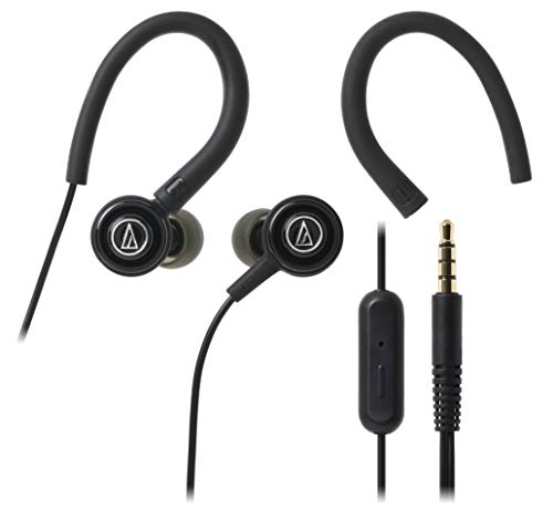 Audio Technica SonicSport ATH COR150ISBK in Ear Headphones with Mic  Black