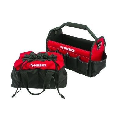 HUSKY - 82151N14 - 15 in. Tool Tote and Parachute Bag Combo