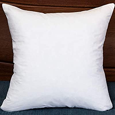 StarryBedding Two Throw Pillow Inserts, 18 x 18 Premium Hypoallergenic Stuffer Pillow Insert Square Throw Pillows, Cotton Fabric