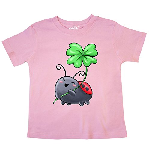 - inktastic - Ladybug with Four Leaf Clover Toddler T-Shirt 4T Pink 313ad