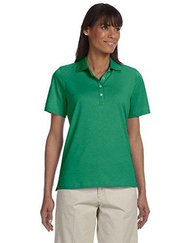 - Ashworth 1147C Ladies High Twist Cotton Tech Polo-Short Sleeves T-Shirt-XX-Large-Pine