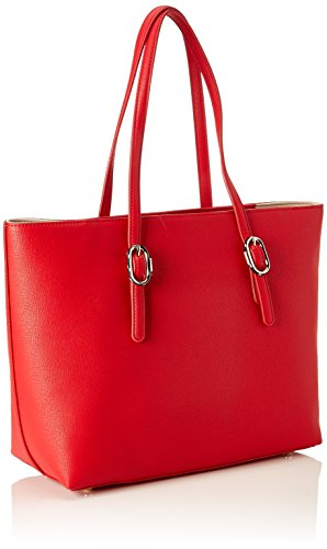 Tommy Shoulder Buckle Women's Th Bag Tommy Red Red Tote Hilfiger 68qWnF