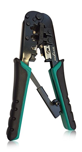 - Modular Crimper – Stripper - Cutter 3-in-1 Tool for Crimping cat5, cat5e, cat6, RJ-45, RJ-12, RJ-11, 6p4c, 6p6c Connectors