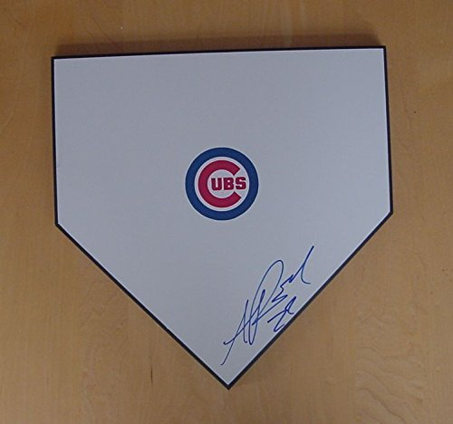 Addison Russell Chicago Cubs Autographed Signed Baseball Home Plate Blue Auto JSA COA by Sports-Autographs