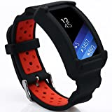 Product review for Wonlex Samsung Gear Fit2 Band, Silicone Replacement Watch Bands Strap for Galaxy Gear Fit2 SM-R360 & Fit 2 Pro for Women Men (Black/Red)