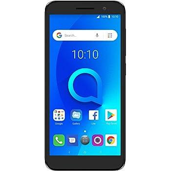 "Alcatel 1 Unlocked Smartphone (AT&T/T-Mobile) - 5"" 18:9 HD Display, 5MP Rear Camera, Android Oreo OS (Go Edition) - Metallic Black (U.S. Warranty)"
