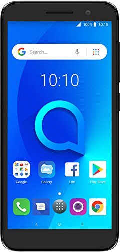 "Alcatel 1 Unlocked Smartphone (at&T/T-Mobile) - 5"" 18:9 HD Display, 5MP Rear Camera, Android Oreo (Go Edition) - Metallic Black (U.S. Warranty) by Alcatel"