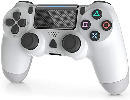 Wireless Controller for Playstation 4, YAEYE 1000mAh PS4 Gamepad Joystick for Playstation 4/Pro/Slim Console with Dual Vibration Bluetooth Connection and 6-axis Gyro Sensor Touchpad (White)