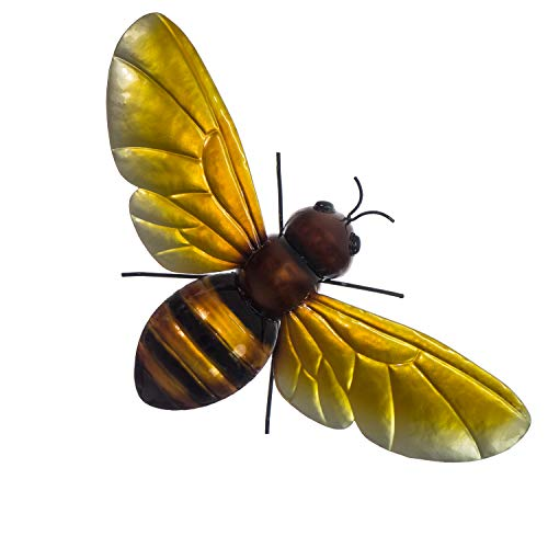 Metal Bee Wall Decor - 3D Hand-Painted Design - 13