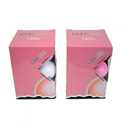 12 Golf Girl PINK New Titanium Personalized Golf Balls