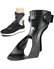 AFO Lightweight Drop Foot Brace Foot Up Ankle Foot Orthosis Support with Inflatable Airbag for Hemiplegia Stroke Shoes Walking Foot Stabilizer (Small, Left Foot)