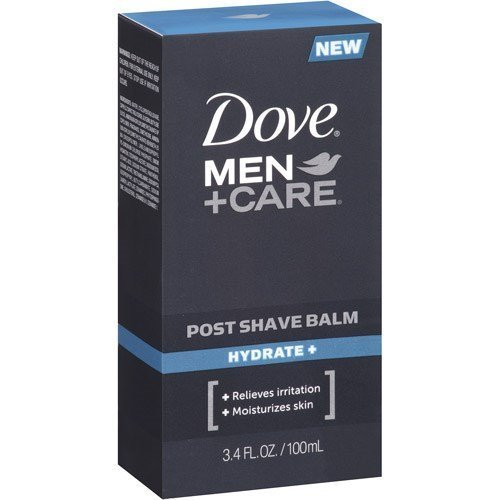 Dove Men+Care Post Shave Balm, Hydrate, 3.4 Ounce (Pack of ()