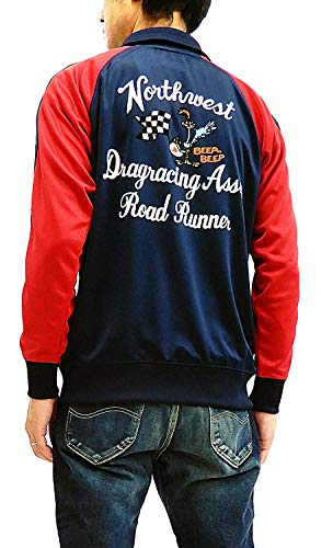Cheswick Men's Fashion Zip-Up Track Jacket with Road Runner Embroidery CH68108 Navy Blue Japan M (US S-M/UK 36-38) ()