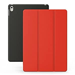 KHOMO iPad Pro 9.7 Inch Case (2016) - DUAL Orange and Black Super Slim Cover with Rubberized back and Smart Feature (Built-in magnet for sleep / wake feature) For Apple iPad Pro Mini 9.7 Tablet by KHOMO