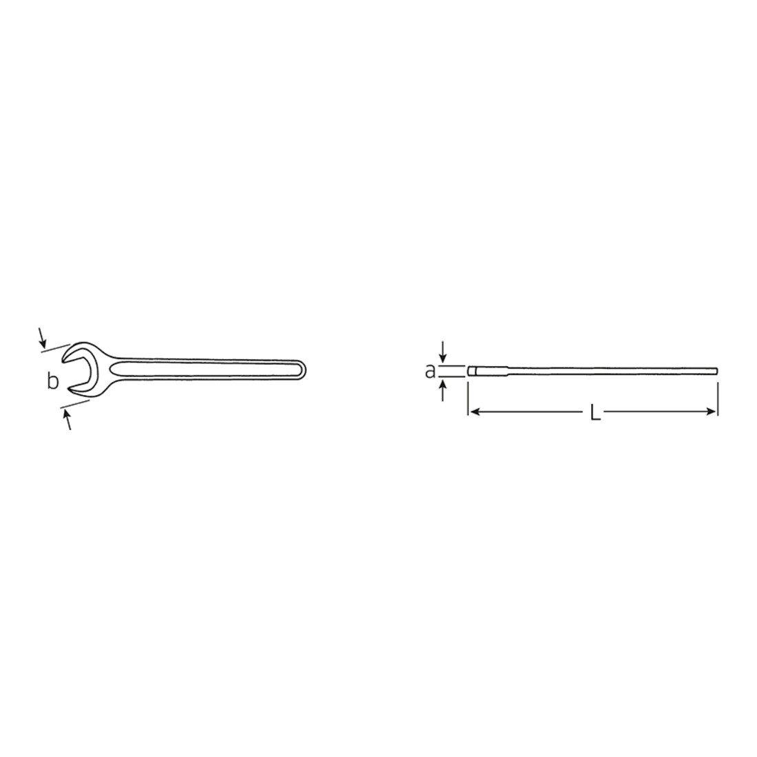 Stahlwille Doppelringschluessel 4004/55/flach Mund feste