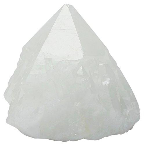 SUNYIK Natural Rock Quartz Crystal Cluster,Druzy Geode Crystal Point,Specimen Gemstone Sculpture Sphere(0.8-0.9lb)