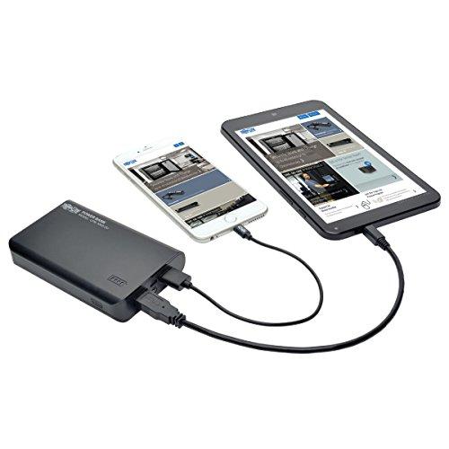 TRIPP-LITE UPB-10K0-2U Cargador Portátil de Batería de USB con 2 Bancos de Energía Móvil de 10000mAh con Linterna LED