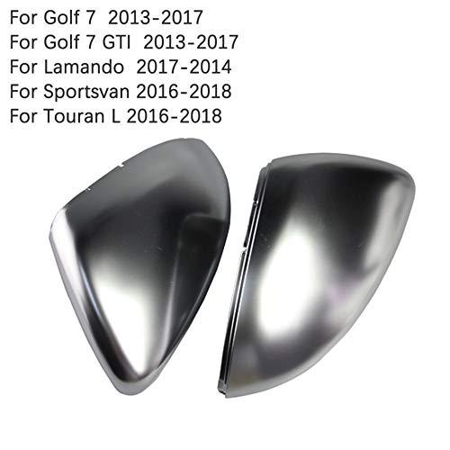 (HDX Side Wing ABS Chrome Rear View Mirror Replacement Cover Cap Shell for Volkswagen CC Golf Passat Beetle Polo Scirocco Lamando Sportsvan Touran (Golf 7 MK7 2013-2017 LWM770))