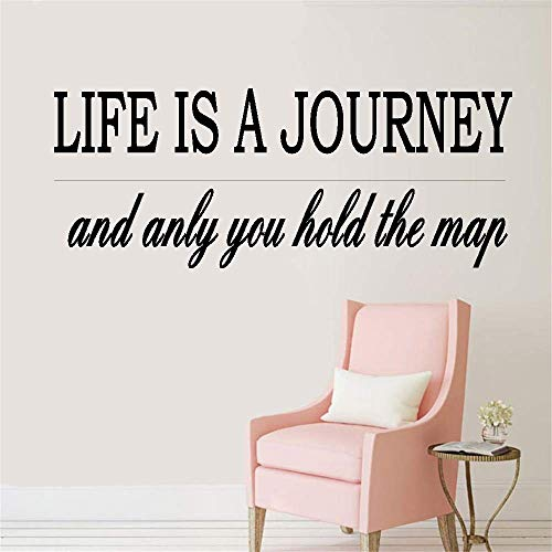 Vinyl Wall Decals Quotes Sayings Words Art Decor Lettering Vinyl Wall Art Life is A Journey and Only You Hold The Map for Nursery Kids Room Bedroom Living Room Home Decor