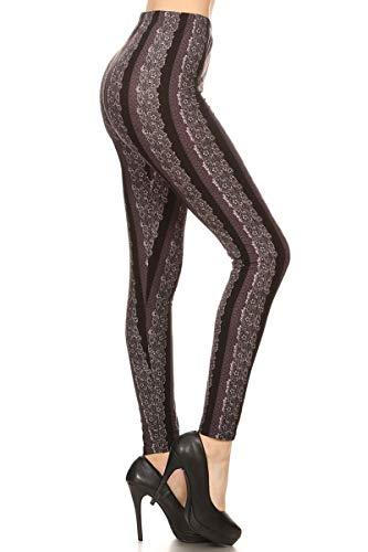 S579-OS Purple Veins Print Fashion Leggings