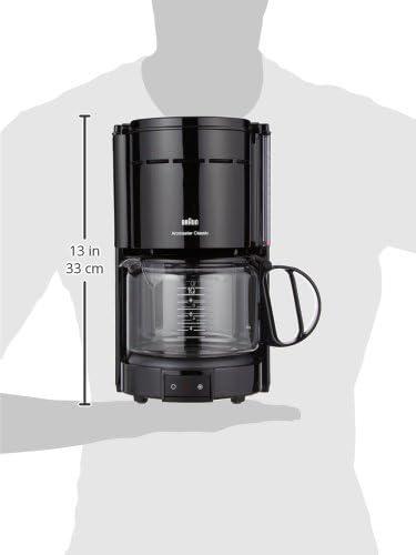 Braun 0X13211003 Cafetera de goteo independiente, 1000 W, 1.2 L ...