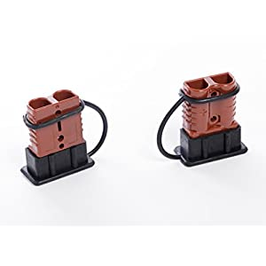 Alfa Wheels Premium 2-4 AWG Battery Quick Connect & Disconnect Plug Set With 350 Amps Max Capacity – Weather-proof Rubber Caps Included – Easy To Install – Perfect For Winch Trailers