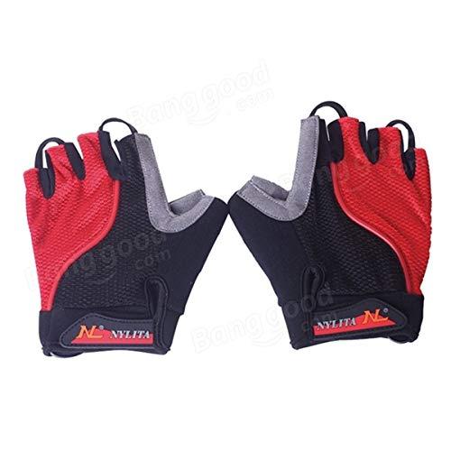 Bicycle Bike Cycling Gloves LED Lighting Half Finger Gloves