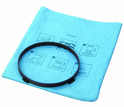 Stanley 25-1201, Fits 1-5 Gallon Reusable Dry Filter Bag with Clamp Ring Vacuum Cleaner, 1-Pack