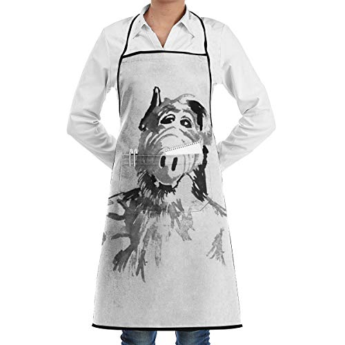 LALACO-Design Alf Thumb Up Cooking Women Kicthen Bib Aprons with Pockets for Chef,Grandma Suitable for Baking,Grilling,Painting Even Fit for Arts,Holiday ()