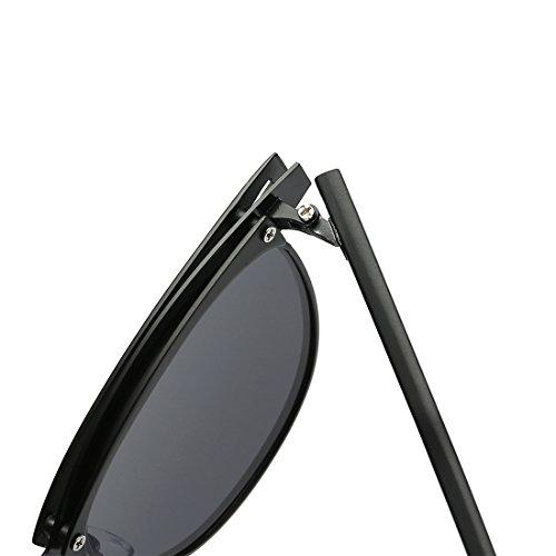 Marco Semi Retro 4 Polarizado kimorn Colores Rimless Gafas de sol Metal K0558 Plata Unisex R0z0gwXq