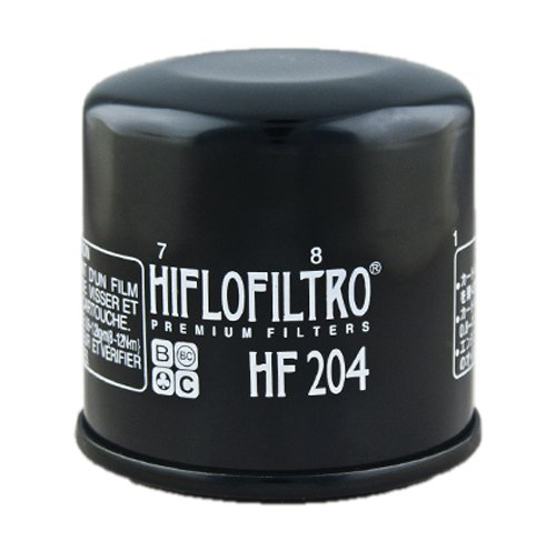 Hiflofiltro HF204-2 Black 2 Pack Premium Oil Filter, 2