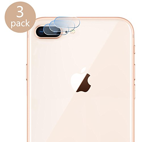Casetego Compatible iPhone 8 Plus/7 Plus Camera Lens Protector, [3 Pack] Ultra Thin Transparent Clear Camera Tempered Glass Protector for Apple iPhone 8 Plus/7 Plus(Clear)