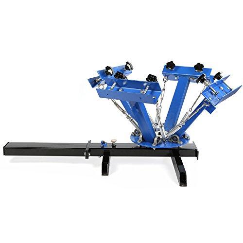BestEquip Screen Printing Machine 1 Station 4 Color Screen Printing for T-shirt DIY Screen Printing Press Silk Screen Removable Pallet