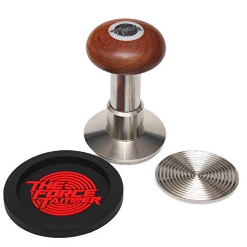 The Force Tamper-New Design Espresso Coffee Tamper Coffee Press Tool Food Grade Stainless Steel Base Standard Set(Jelly, 58.35mm)