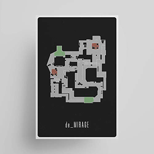 de_Mirage Map; Gaming Poster, Unframed, Wall Art, Gaming Decor, Gifts Under $15