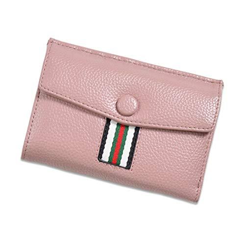 Supporto Leather Pink Sette Le Wallet Frizione Carta Colori Di Signora Aredovl Donne Del Organizzatore Pu color Borsa Pink Della SBxwqAqv
