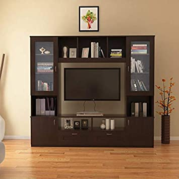 HomeTown Missouri Engineered Wood TV Unit in Walnut Color