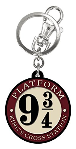 (Harry Potter - Platform 9 3/4 - Rubber Keychain, Multi-Colored, One Size)