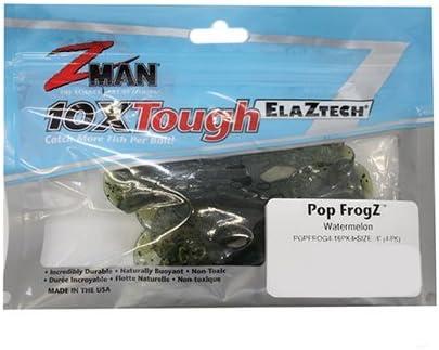 "4 Pack Lot 3 Z-Man popfrog 4-46PK4 Pop Frogz 4/"" GREEN PUMPKIN"