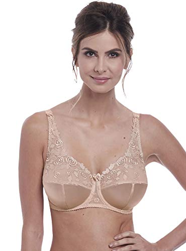 Fantasie Women's Belle Full Cup Floral Bra with Underwire Bra, Natural Beige, 34JJ
