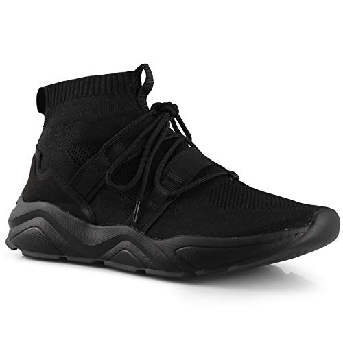 CROSSMONT Men's Cloverfield Hi-top Casual Athletic Walking Shoes Breathable Slip-On Sneakers