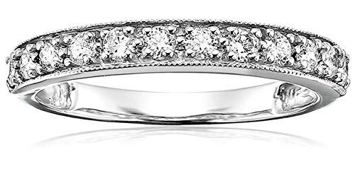1/2 cttw Certified I1-I2 14K Milgrain Diamond Wedding Band (H-I Color)