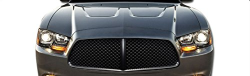 11-14 Dodge Charger Euro Black Vip Style Mesh Front Hood Bumper Grill Grille - Bumper Charger Style Front
