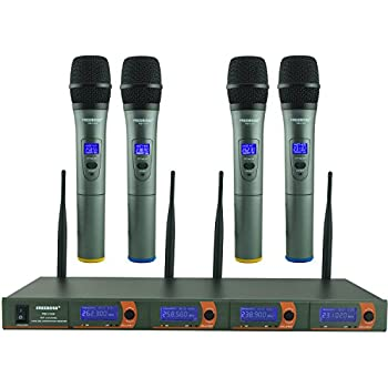 pyle pro pdwm8400 8 mic professional handheld vhf wireless microphone system pyle. Black Bedroom Furniture Sets. Home Design Ideas